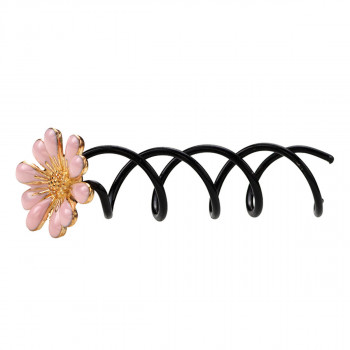 Everneed Nelly - Hairspiral with Flower Pink