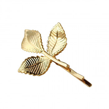 Everneed Gold Hairpin with 3 leaves