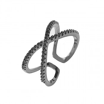 Everneed Scarlett - Cross Ring Crystal